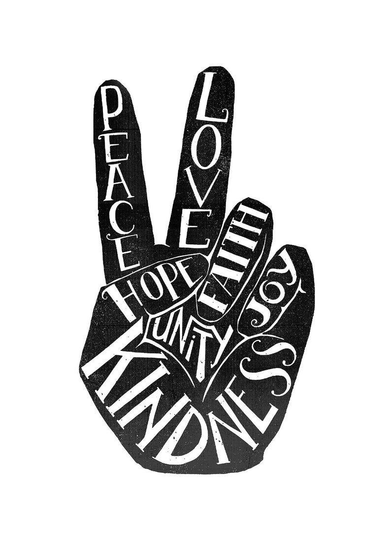 Peace Sign Art Print Peace And Love Inspirational Wall Art Minimalist Bohemian Decor Peace Symbol World Peace Sign In 2021 Peace Sign Art Peace Sign Peace Sign Fingers