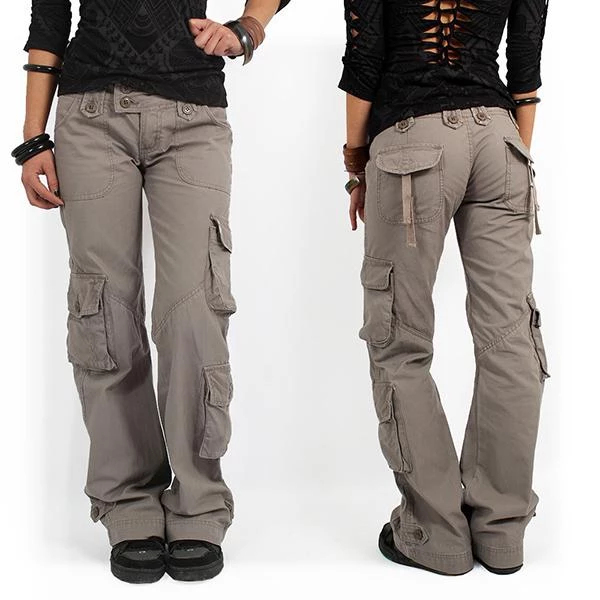 Multi Pocket Baggy Trousers Flared Cargo Pants In 2020