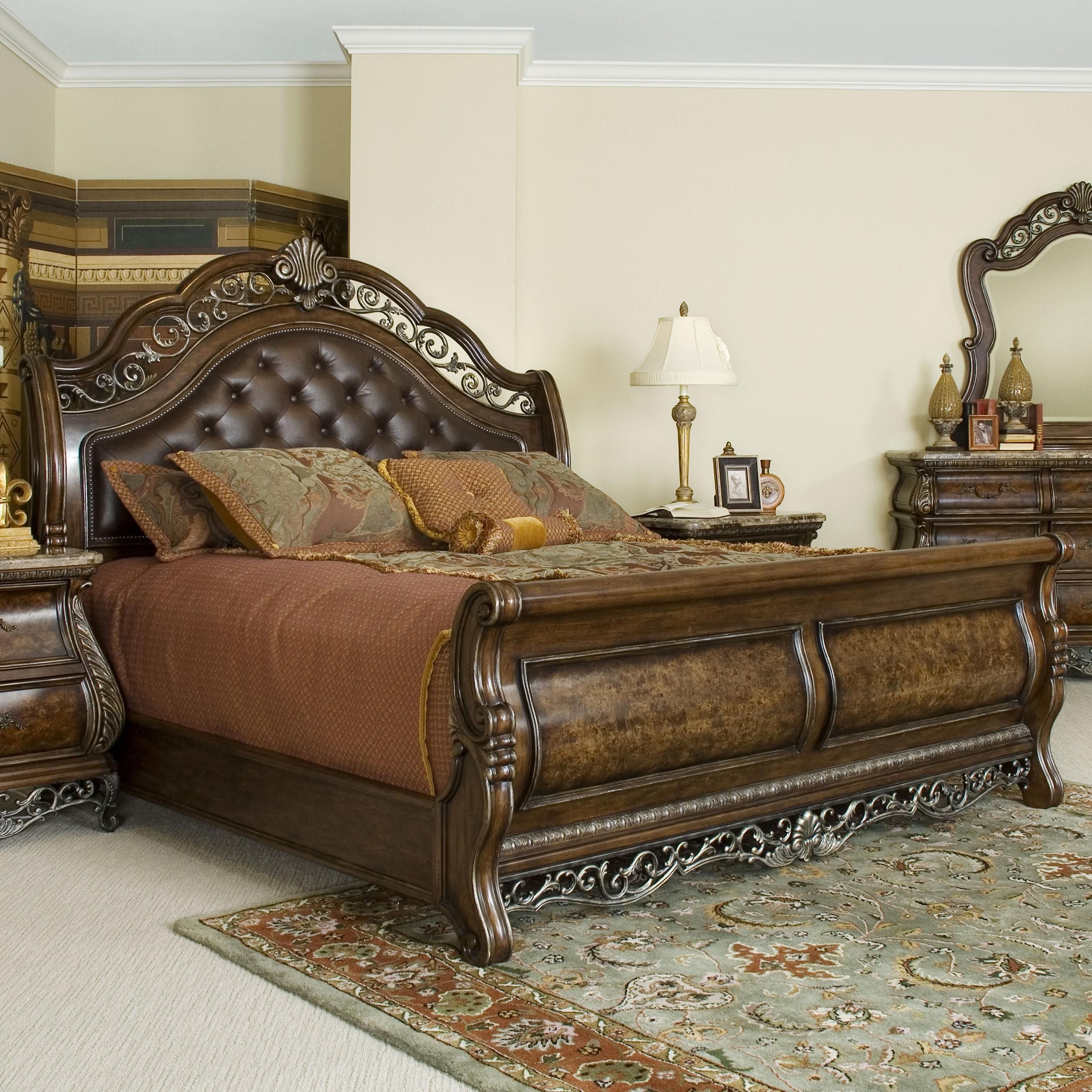 Nebraska Furniture Mart Bedroom Sets Birkhaven Queen Sleigh Bed By Pulaski Furniture Baers Furniture