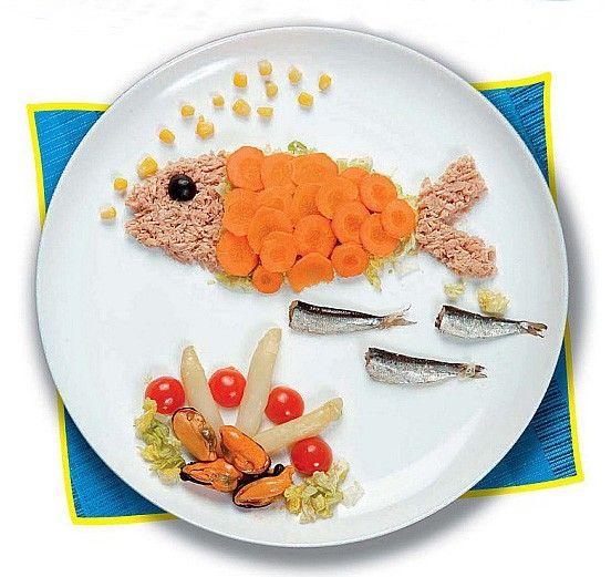 El pescado es divertido con comida - Platos de pasta sencillos ...