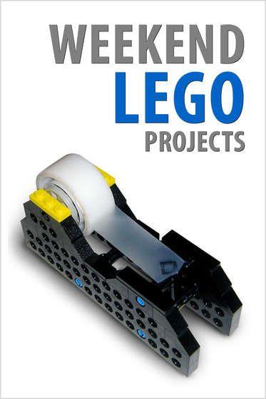 weekend lego projects lego projecten plakband dispenser en zaklamp. Black Bedroom Furniture Sets. Home Design Ideas
