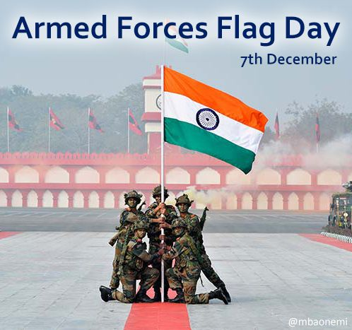 Celebrate Armed Forces Flag Day Today Is Flagday Dedicated Towards Collection Of Funds From People For W Armed Forces Flag Day Armed Forces Independence Day