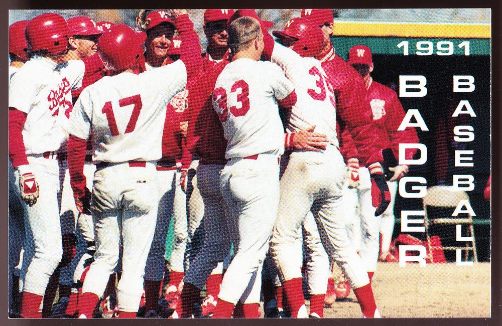 1991 wisconsin badgers park printing baseball pocket