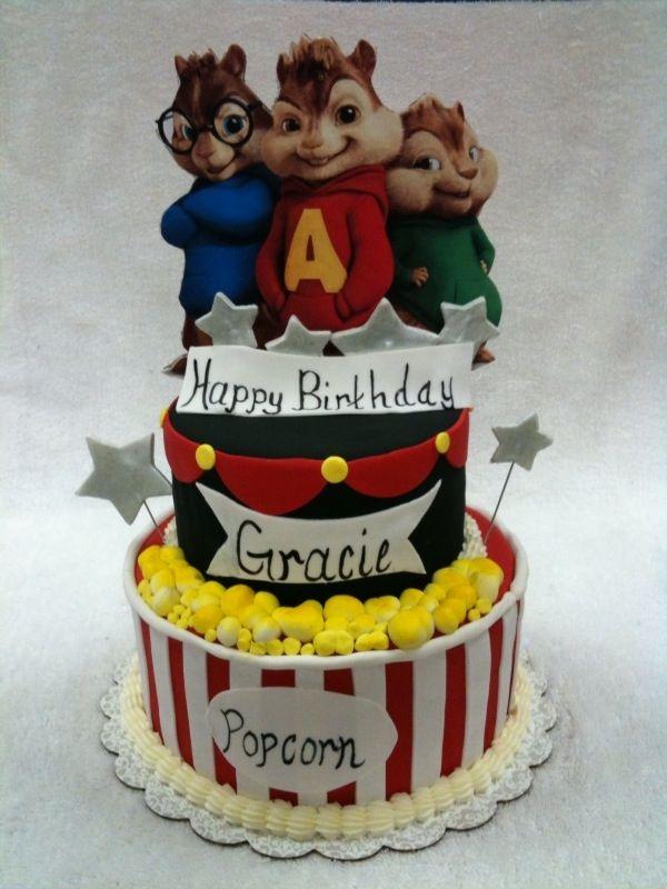 Admirable Alvin And The Chipmunks Con Immagini Torte Di Compleanno Idee Funny Birthday Cards Online Alyptdamsfinfo