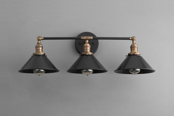 Photo of Bathroom Vanity – Rustic Vanity – Rustic Lighting – Vanity Light Fixture – Industrial Lightin…
