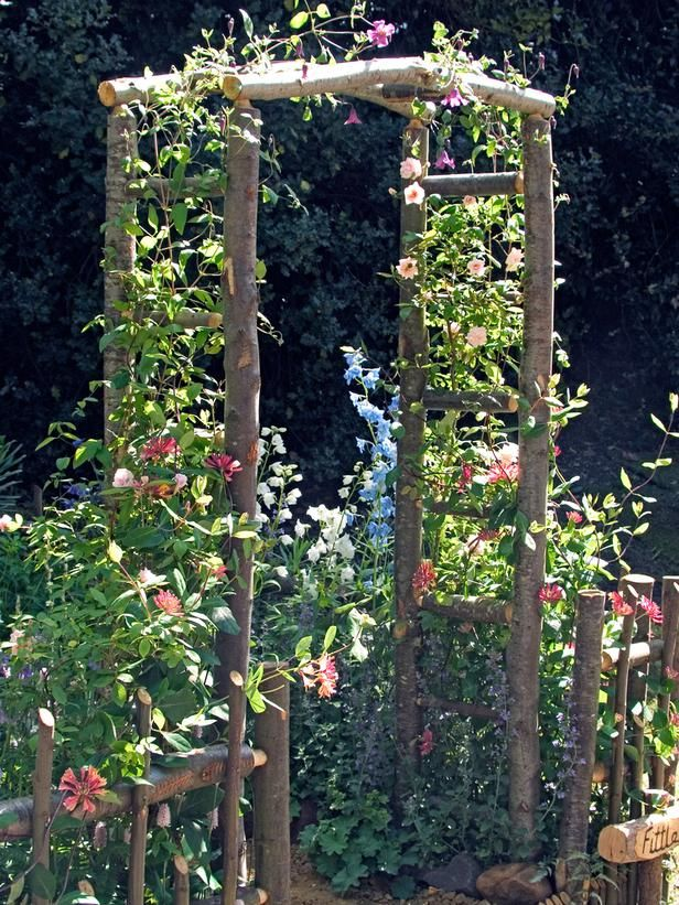How to Build a Wooden Arch Kit Wood arbor Arbors and Google search