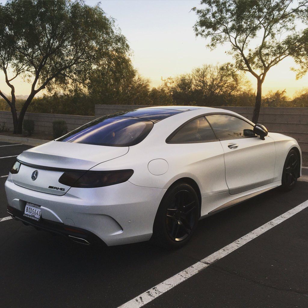 Mercedes S550 Coupe // White // #sssniperwolf #lia