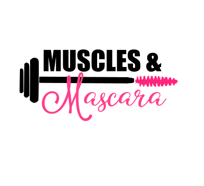 Muscles and Mascara vinyl decal