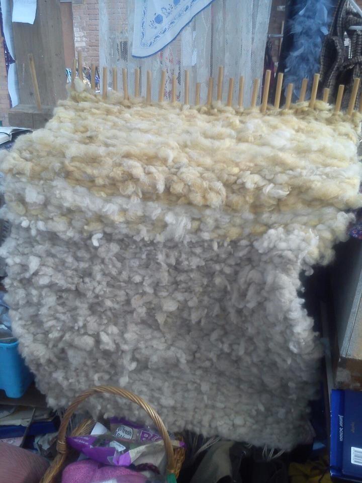 Raw Fleece Peg Loom Rug