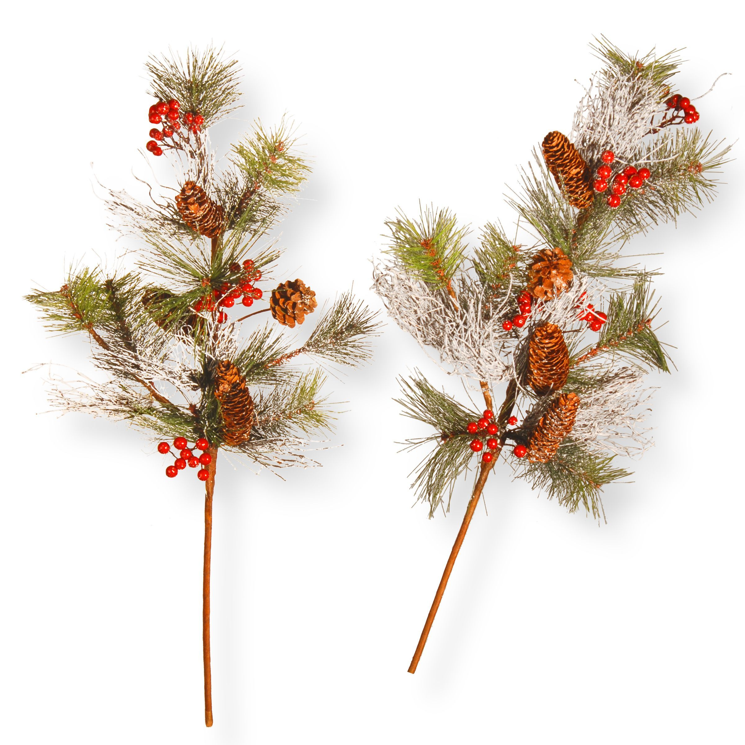 National Tree Company 26 Holiday Christmas Decorative Pine Cone Branch Spray Set Of 2 Potted Trees Christmas Pine Cones Indoor Christmas Decorations
