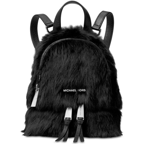 Michael Michael Kors Rhea Zip Mini Messenger Backpack (2.385 ARS) ❤ liked on Polyvore featuring bags, backpacks, black, michael kors backpack, mini messenger bag, michael kors bags, mini backpack and miniature backpack