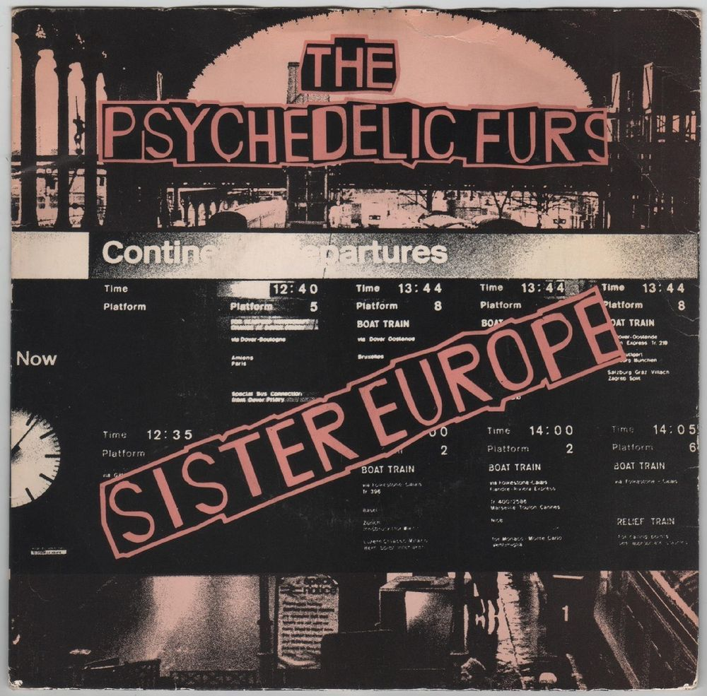 "Psychedelic Furs - Sister Europe, 7"" vinyl single, CBS records, c.1980, new wave #vinyl"