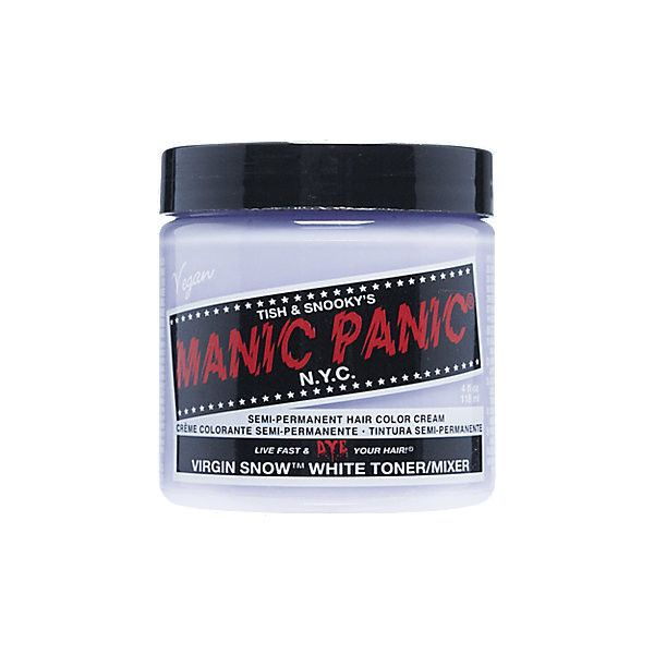 Manic Panic Virgin Snow ($3.99) ❤ liked on Polyvore featuring hair