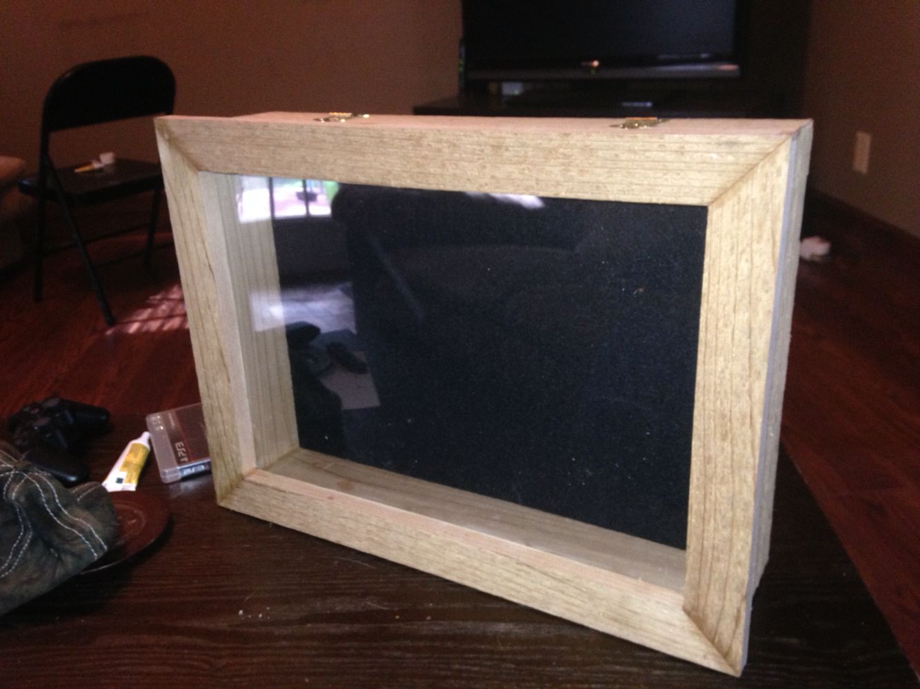 Custom Shadow Box With Hidden Compartment Custom Shadow Box Woodworking Projects Decor