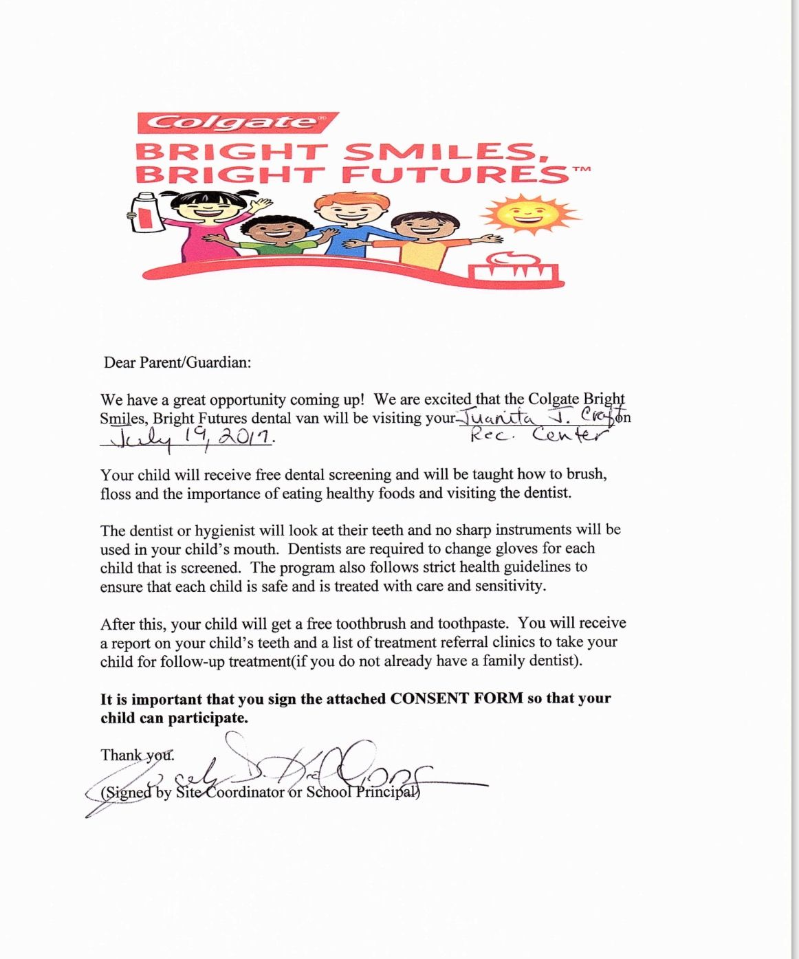 Colgate Brightsmilesbrightfutures Free Dental Screenings July