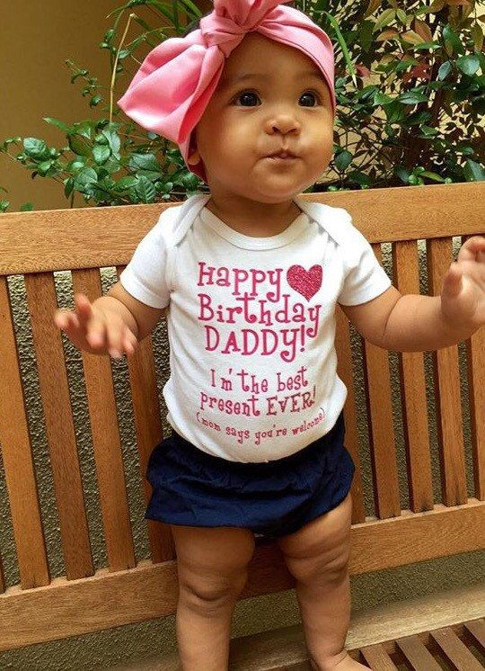 Happy Birthday Daddy Baby Onesie By DivineLittles On Etsy
