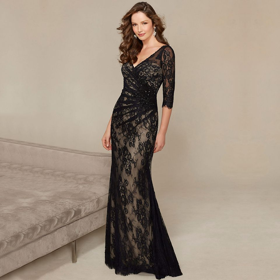 Modische Wulstige Spitze Bodenlangen Formale Kleid Glamorous ...