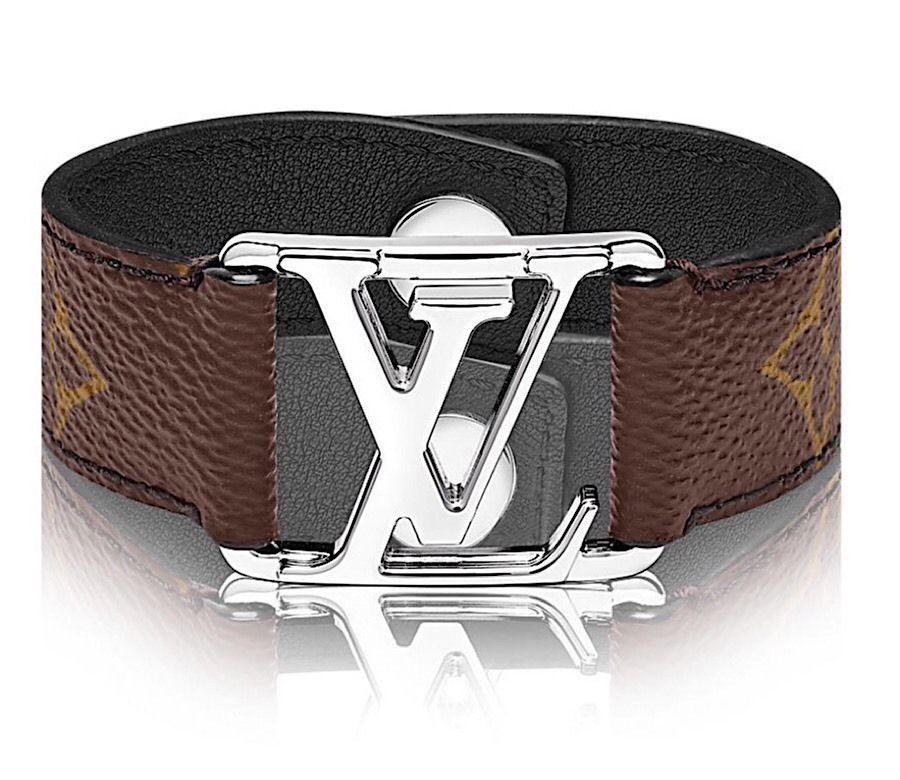 6104f7c3 Details about Louis Vuitton Monogram Chain Bracelet Galaxy LV ...