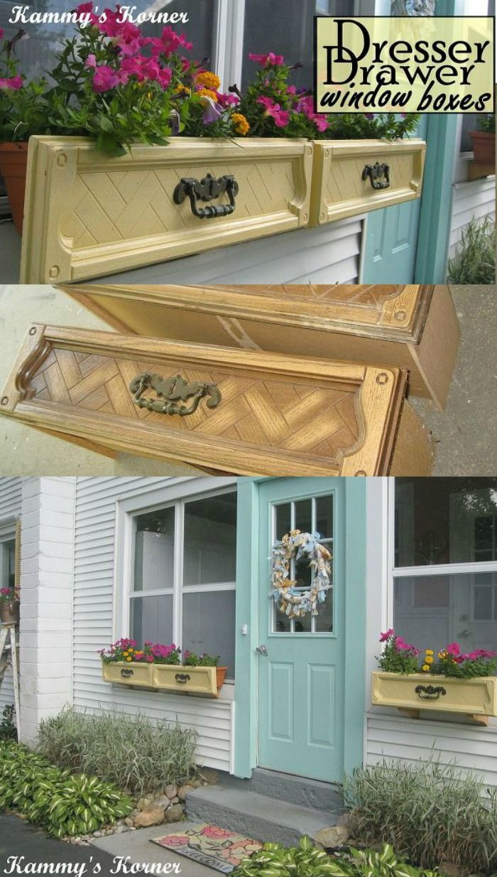 How to Dresser Drawer Upcyle Window Boxes Window boxes