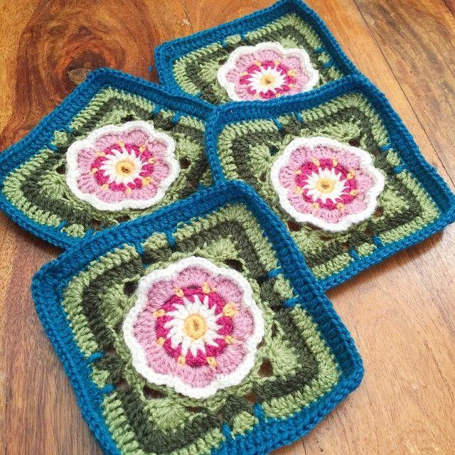 holly_pips crochet flower squares | MOTIVOS | Pinterest