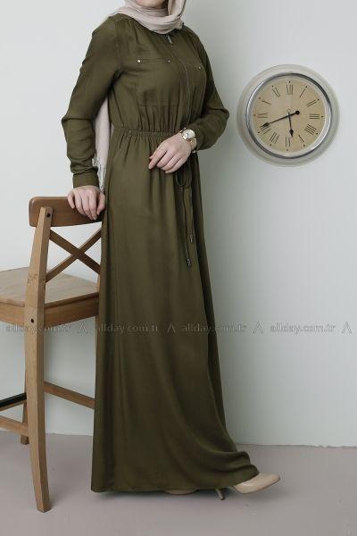 Allday Acik Kahve Elbise 2166 Modelini Incelemek Icin Lutfen Sayfamizi Ziyaret Ediniz Gaun Perempuan Gaun