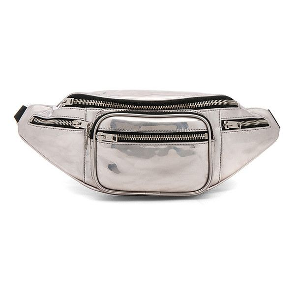 d45ff9bde309f0 Alexander Wang Attica Soft Fanny Pack ($600) ❤ liked on Polyvore featuring  bags, handbags, fanny bag, bum bag, zip top bag, alexander wang bag and  metallic ...