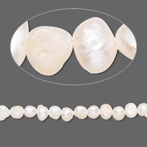 Pearl Cultured Freshwater Bleached White 3 4mm Flat Sided Potato D Grade Sold Per 15 Inch Strand Pearls Freshwater Cultured Pearls Fresh Water