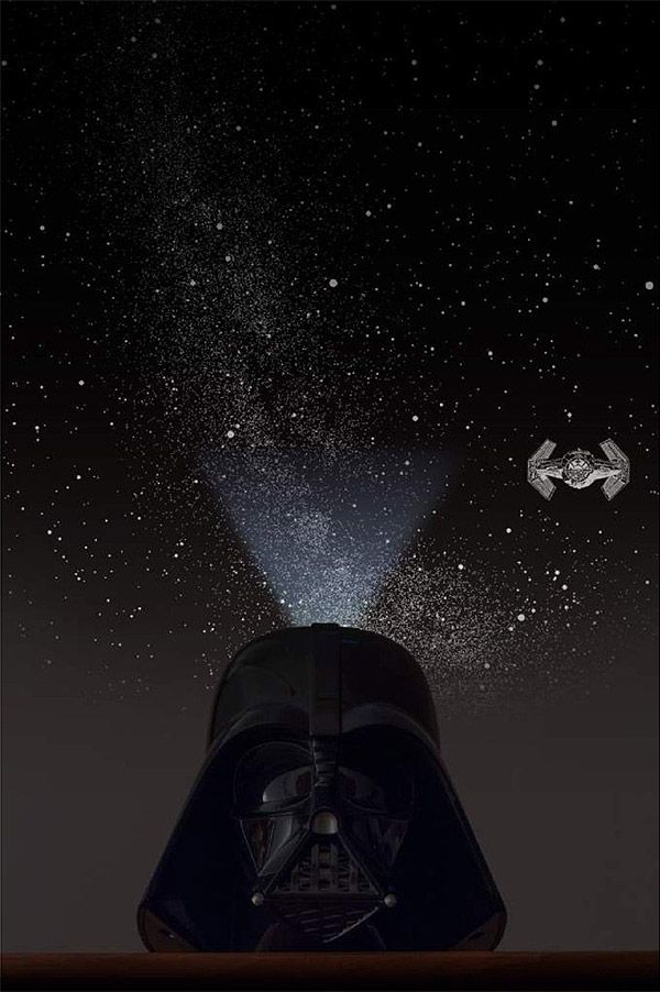 Darth Vader Planetarium Projector Puts The Galaxy On Your Ceiling