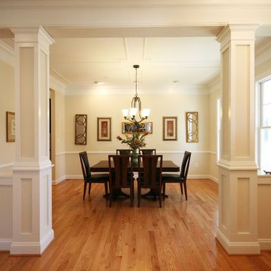Interior columns design pictures remodel decor and for Pillar designs for living room