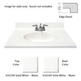 US Marble Designer White Cultured Marble Integral Single Sink ... on high-end bathroom vanity, 44 bathroom vanity, 48 bathroom vanity, single sink bathroom vanity, 42 bathroom vanity, 30 inch bathroom vanity, white bathroom vanity, black bathroom vanity,