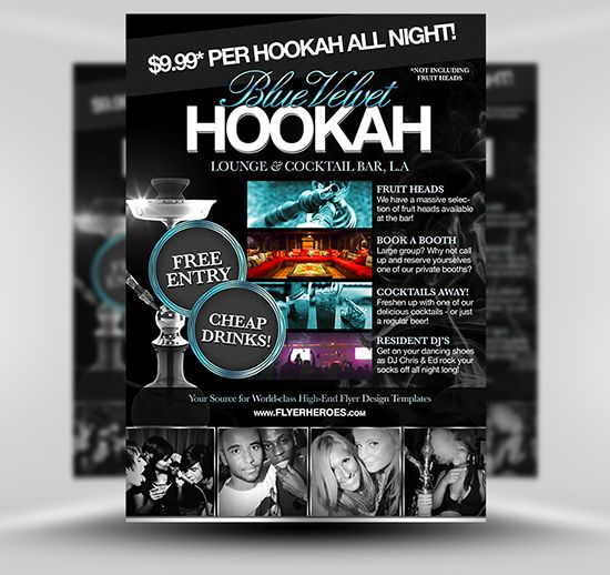 Free Hookah Lounge Flyer Template Psd Photoshop Flyer Template
