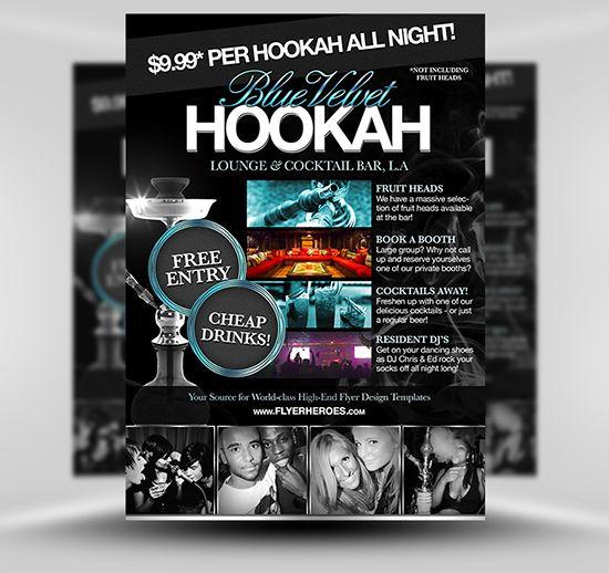 Free hookah lounge flyer template psd photoshop flyer template flyerheroes free psd flyer for Flyerheroes free