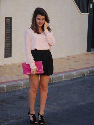 9b34a59aa amaya-t Outfit Otoño 2012. Combinar Camisa-Blusa Rosa suave/Rosa ...