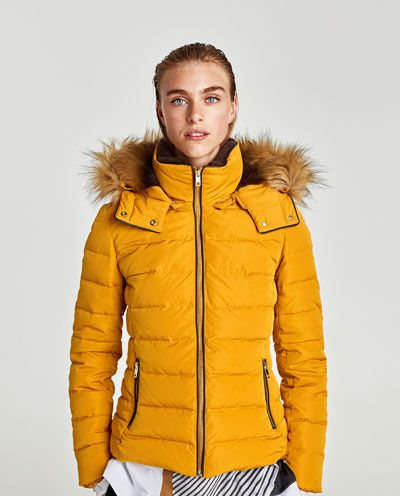a4895fc4 Image 2 of DOWN PUFFER JACKET WITH TEXTURED HOOD from Zara | clothes ...