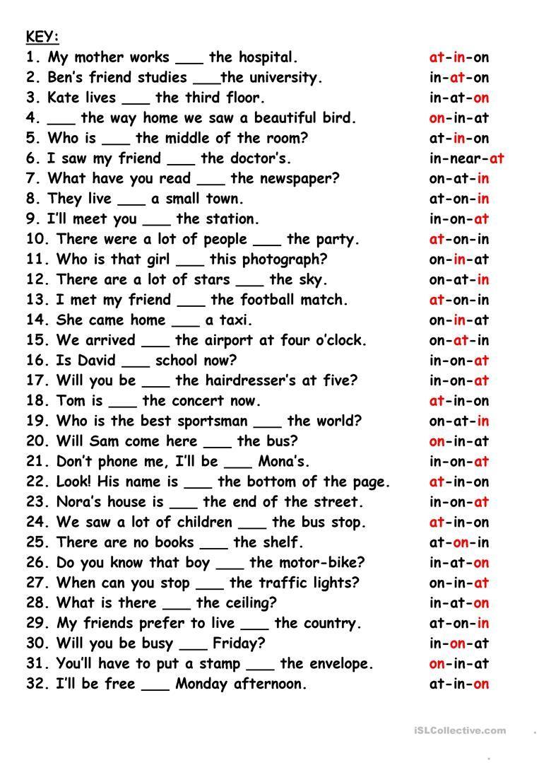 Revision:Prepositions worksheet - Free ESL printable worksheets made by  teachers   Preposition worksheets [ 1079 x 763 Pixel ]