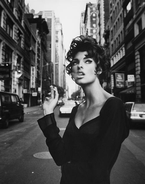 """""""La Più Sexy"""" Vogue Italia, June 1990 Black and White"""