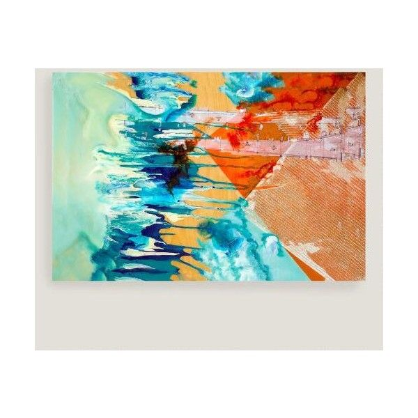 Cost Plus World Market Abstract Stripes Canvas Wall Art ($90 ...