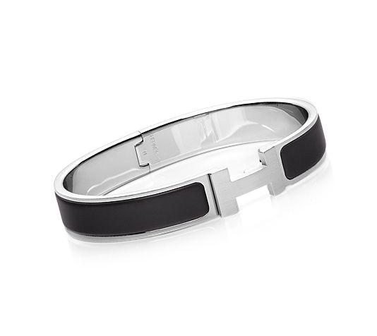 Hermes Chic HH Mens Bracelet in Black | Acessórios