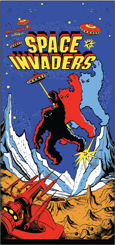Space Invaders side art   MAME   Retro arcade games, Retro arcade