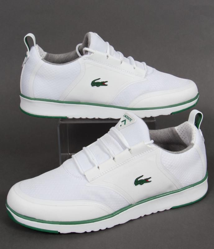 f7b273da1af7b Lacoste Light Trainers in White Green