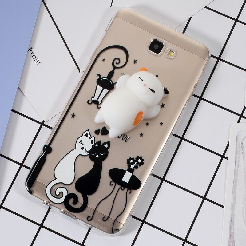 ff29ef6da94 3D Silicone Squishy Cat TPU Protection Case for Samsung Galaxy J7 Prime -  Cat