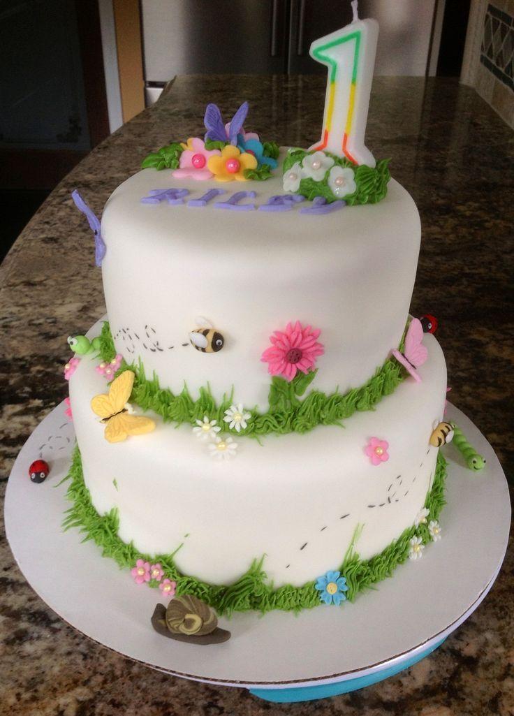 Girl Birthday Cake Sky blue instead of white maybe cake