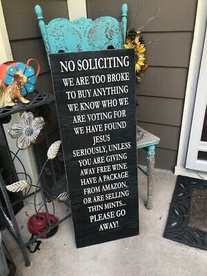 Prayer Is Best Way Meet Lord Trespassing Funny Novelty Sign No Soliciting for sale online   eBay