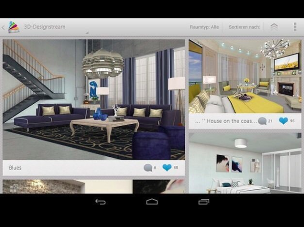 Create complete environments Virtually, via the app