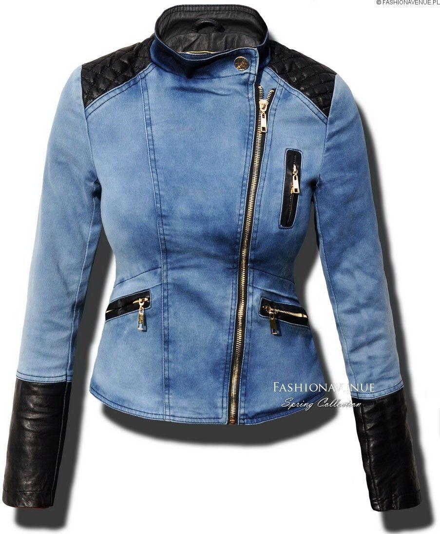 Kurtka Damska Jeans Skora Ramoneska Wiosna Lato 2016 Model 113 W Sklepie Www Fashionavenue Pl Trendy Denim Denim Fashion Designer Jeans