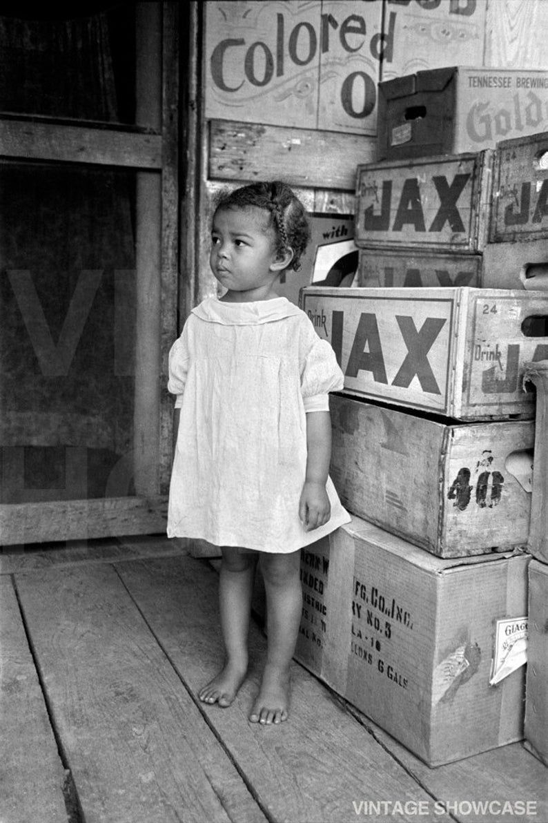 Old Vintage Photo of Little African American black
