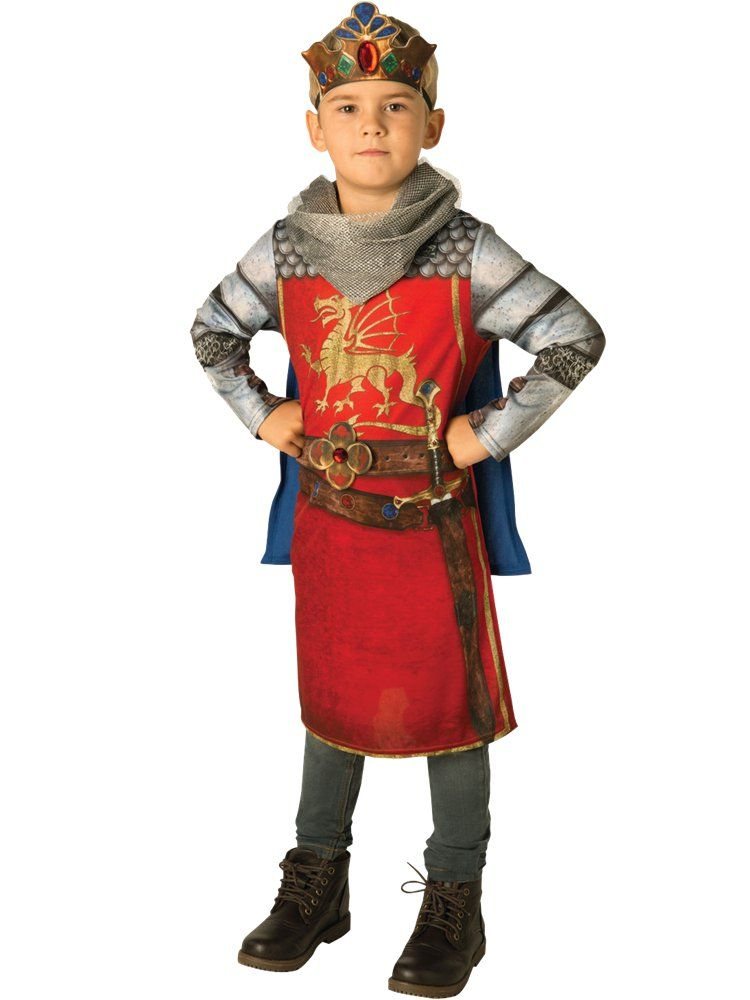 BOYS TUDOR PRINCE FANCY DRESS COSTUME MEDIEVAL KING CHILDS KIDS OUTFIT BOOK DAY