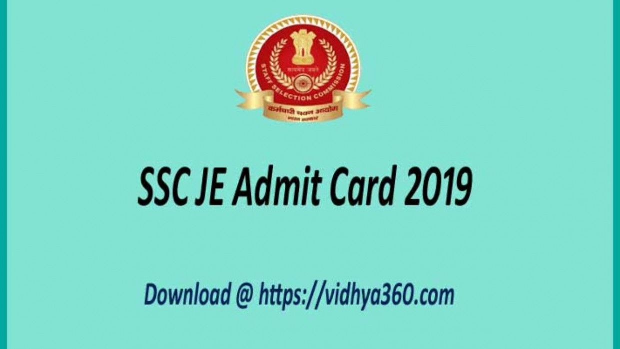 10 Ssc Je Paper 2 Admit Card The Staff Selection Commission Ssc