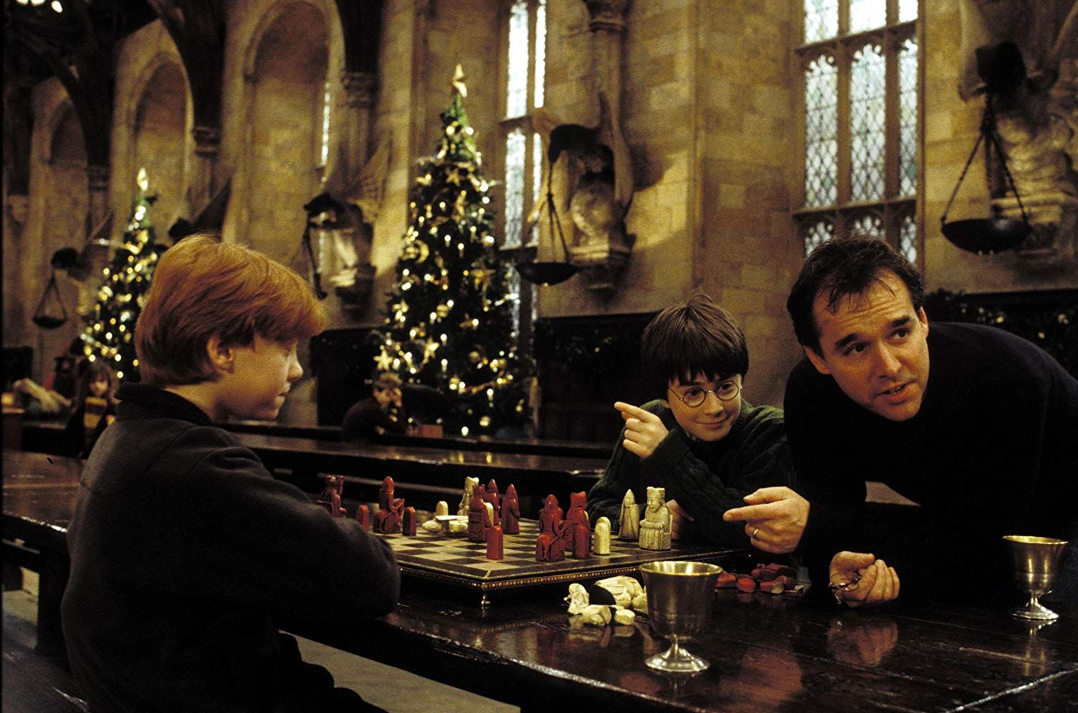 Chris Columbus Rupert Grint And Daniel Radcliffe In Harry Potter And The Sorcerer S Stone 20 Daniel Radcliffe Harry Potter The Sorcerer S Stone Harry Potter