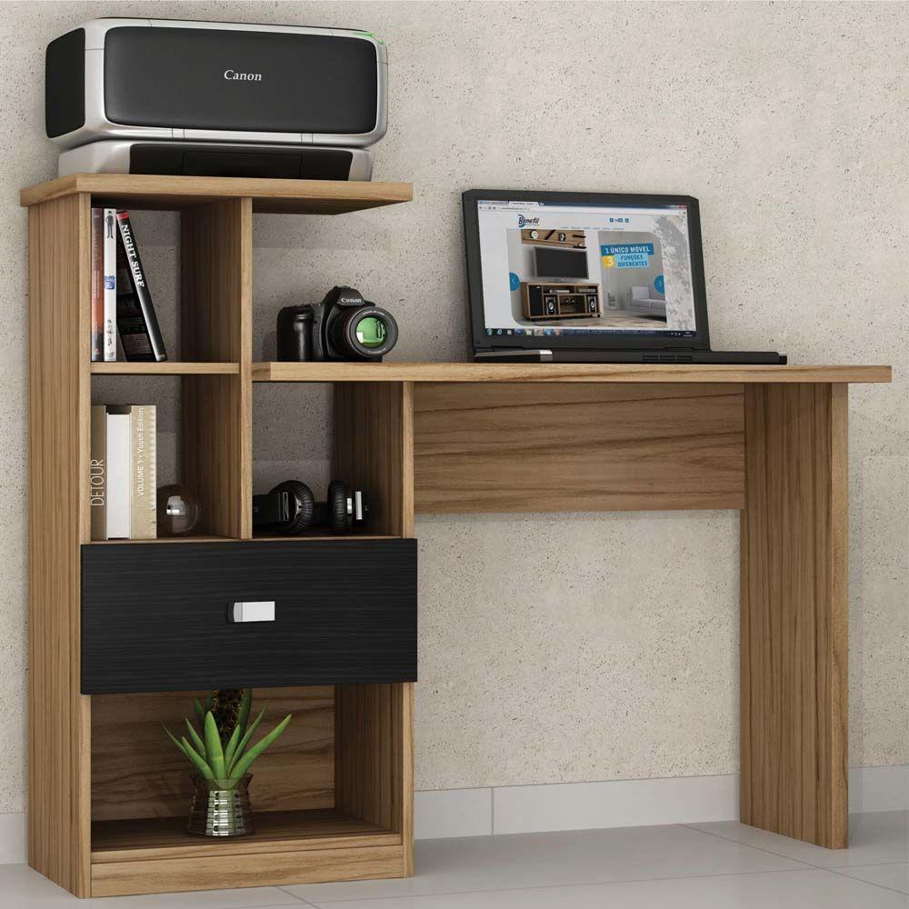 Mesa Para Computador Ou Escrit Rio Benetil Connect Com 1 Gaveta  # Muebles Para Notebook E Impresora